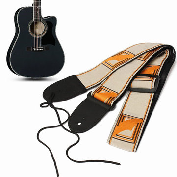 Electric Acoustic Guitar Bass Adjustable Cotton Strap Leather