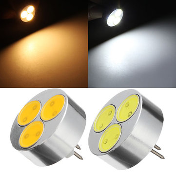 G4 3W Warm White/Pure White 3 COB LED Light Lamp Bulb DC 12V
