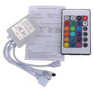 24 Key IR Remote Controller for RGB LED 3528 5050 SMD Strip Light 12V
