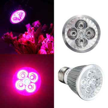 15W E27 Red + Blue LED Plant Grow Light Lamp Flower Hydroponic Globe Bulb 85-265V