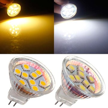 MR11 1.5W 9 SMD 5050 Warm White/White AC/DC 12V LED Spotlightt Bulb
