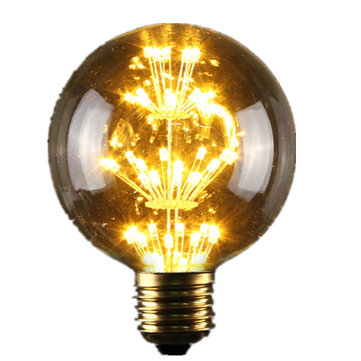 E27 G95 3W Vintage Antique Edison Style Carbon Filament Clear Glass Bulb 220-240V