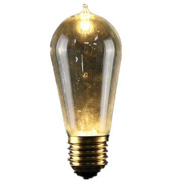 E27 ST58 5W Vintage Antique Edison Style Carbon Filament Clear Glass Bulb 220-240V