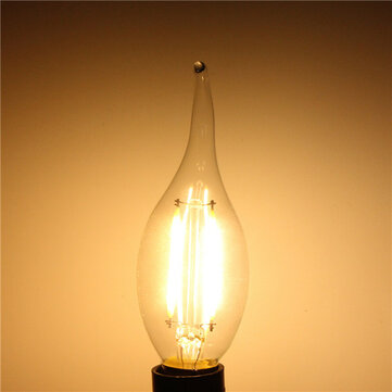 E14 2W White/Warm White Non-Dimmable COB LED Filament Retro Edison Candle Bulbs 220V