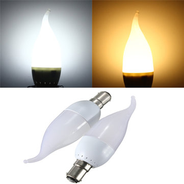 B15 3W White Warm White LED Candle Flame Light Chandelier Bulb AC 220V