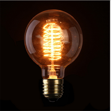 E27 40W G95 64 Anchors Vintage Antique Edison Style Carbon filament Clear Glass Bulb 220V