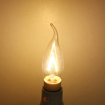 E14 2W Warm White Incandescent Light Candle Light Bulb 220V