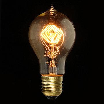 E27 40W A19 Vintage Antique Edison Incandescent Bulb Clear Glass 110V
