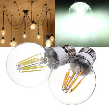 E27 8W White/Warm White Filament LED Retro Lamp 360 Degree 85-265V