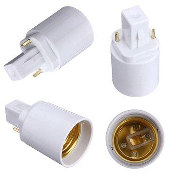 Buy G24 To E27 Socket Base LED Light Bulb Lamp Adapter Converter Holder for $1.52 in Banggood store