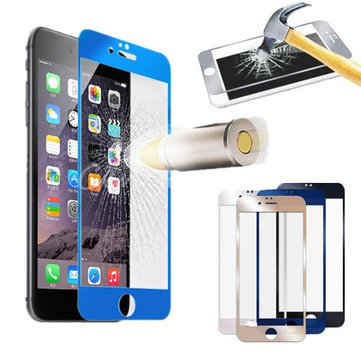 Colored Full Real Tempered Glass Screen Protector For iPhone 6
