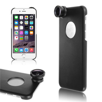 3in1 Fisheye Wide Angle Camera Lens With Back Case For iPhone 6