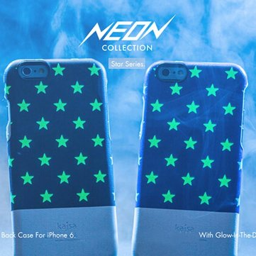 Kajsa Neon Collection Fluorescence Star Back Cover For iPhone 6 6s