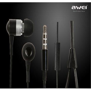 Awei إس-Q3i سوبر باس في الأذن سماعة مع ميك سماعة لفون