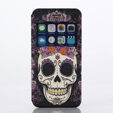 Schedel Hoofd Patroon PC Hard Cover Case Protector Voor iPhone 6 Plus