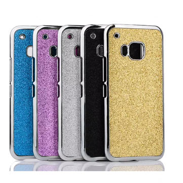 Glitter Shining PC Leather Back Case Cover Shell For HTC ONE M9