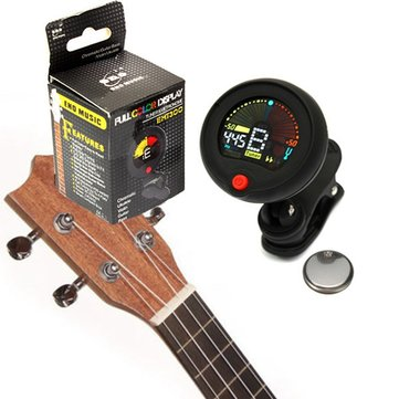 Clip-on Chromatic Tuner Metronome For Electric Guitar Bass Ukulele