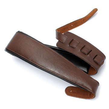 Acoustic Electric Guitar PU Leather Strap