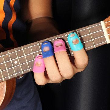 Protecciones de dedos de silicona protectores dedos guitarra 4 en 1 para ukelele