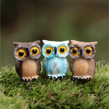 Micro Landscape Decor Resin Mini Owl Garden DIY Ornament
