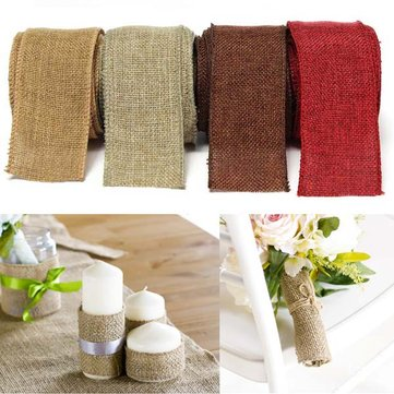 5m Jute Fabric Ribbon Handwork DIY Home Party Wedding Decoration