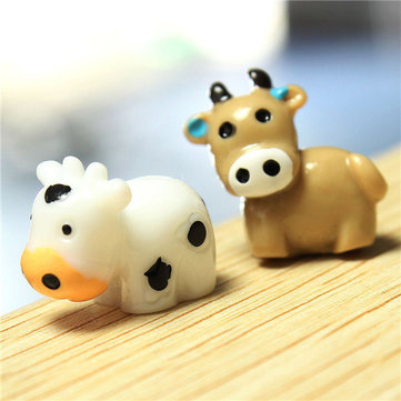 Micro Landscape Decorations Resin mini Cow Garden DIY Decor