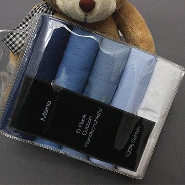 5pcs cotone fatta a mano uomini quadrati fazzoletto di colore puro fazzoletti tascabili