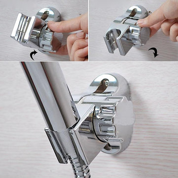 Bathroom Adjustable Rotatable Silver Shower Head Bracket Holder