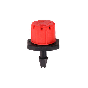 50pcs 8 Outlets Red Drip Adjustable Flow Dripper Micro Sprinklers