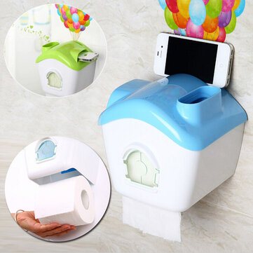 Creative Toilet Roll Paper Holder Paper Box With Mobile Phone Rack
