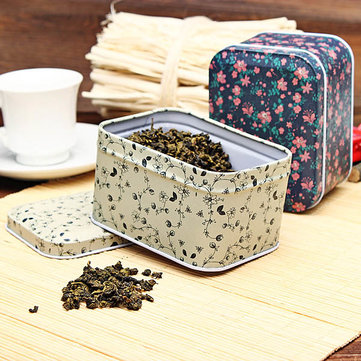 Floral Print Keepsake Box Gift Tea Candy Store Tin Box