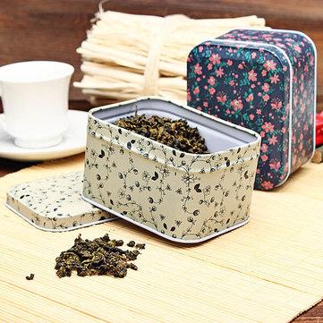الأزهار طباعة تذكار مربع هدية الشاي مخزن الحلوى القصدير مربع