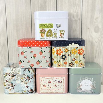 Flower Bird Pattern Tea Coffee Box Candy Jewelry Gift Store Boxes