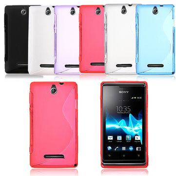 Ultra Thin Flexible TPU Back Case Cover For Sony Xperia E Dual C1605