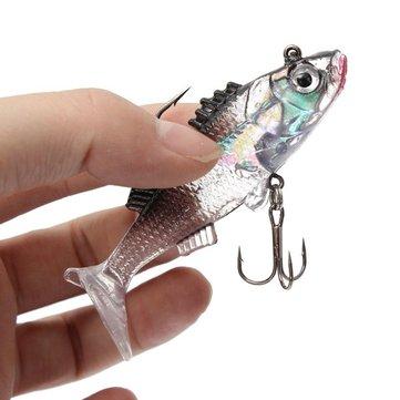 ZANLURE 7.6cm 15g Paillette Fishing Lures Soft Lure Crankbaits Tackle Hooks