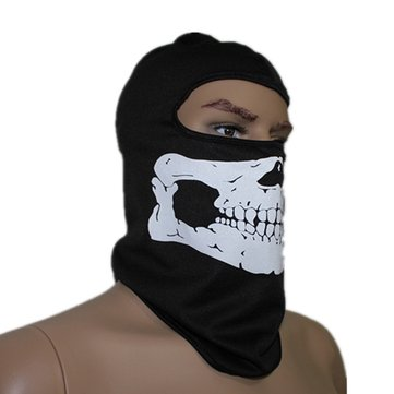 Cycling Mask Skull Bone Balaclava Face Head Wrap Neck Hood Protector