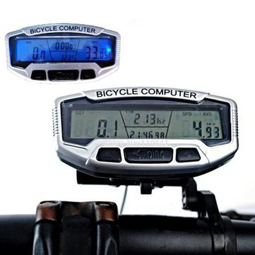 Digital LCD Backlight Bike Computer Odometer Bike Speedometer