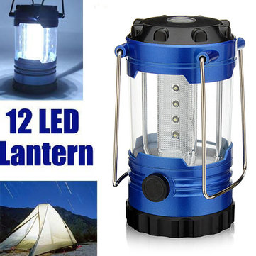 12 LED Portable Camping Hiking Tent Lamp Light Lantern Outdoor Emergency Light With Compass