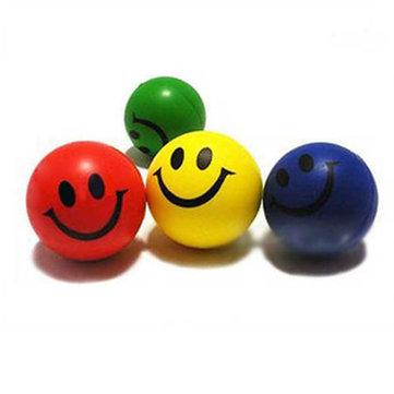 Emoticones para aliviar el estrés de ejercicio cara exprimen bola