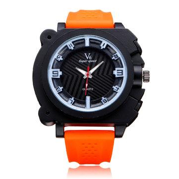 V6 V0191 Super Speed Big Dial Number Rubber Men Wrist Watch