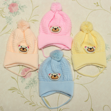Baby Toddler Knitted Bear Hat Cartoon Crochet Cap