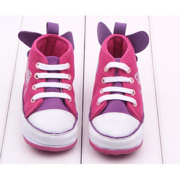 Baby Girl Butterfly Decorated Princess Toddler Canvas Shoes