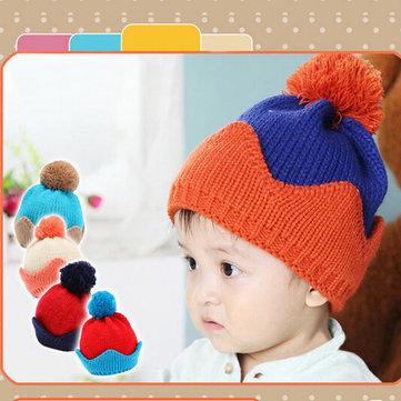 Baby Children Cartoon Crown Knitted Hat Head Cap