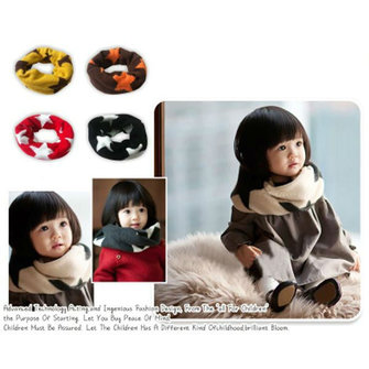 Baby Girl Boy Children Kids Warm Big Five-Pointed Star Scarf