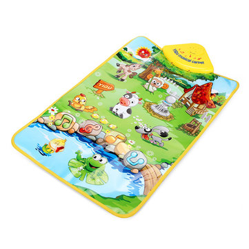 Baby Animal Farm Musical Mat Touch Singing Carpet Kids Educational Toy