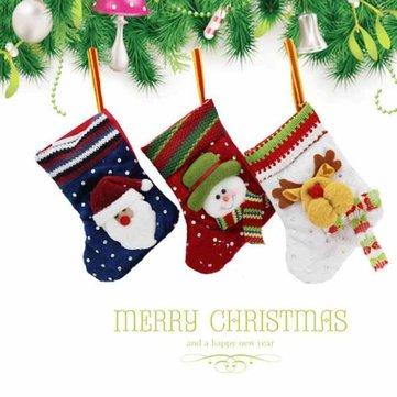 Детские детская Рождественская елка украшения вязаные носки чулок