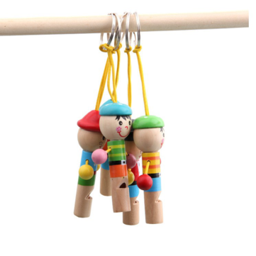 Baby Children Wooden Mini Pirates Developmental Musical Whistle Toy