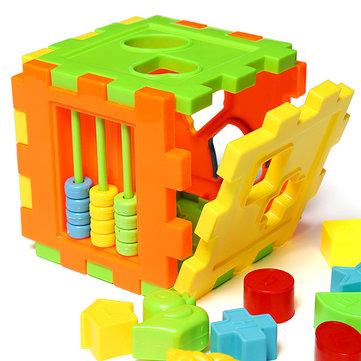 Bebek Çocukları Eşleştirme Sıralama Bloklar Kutu İstihbaratlı Oyuncak