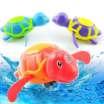 Baby Bath Toy Clockwork Large Cartoon Swimming Chain Turtle