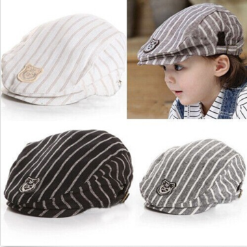 Baby Children Baseball Cap Summer Beret Stripe Hat